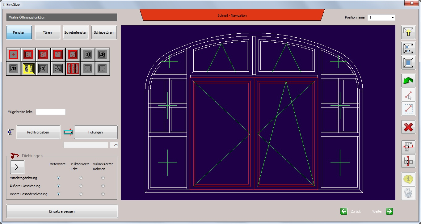 C Mol Fensterbausoftware   Fenster Türen   Sonder