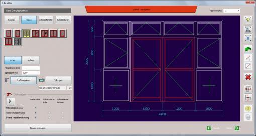 c-mol Fensterbausoftware - Fenster-Türen - Standard
