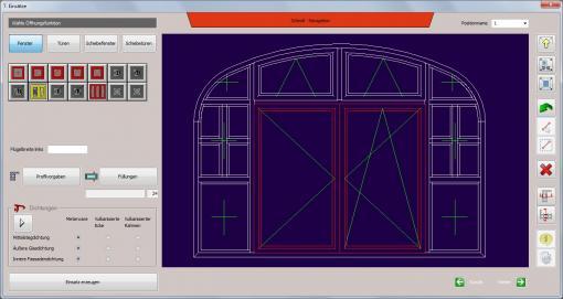 c-mol Fensterbausoftware - Fenster-Türen - Sonder