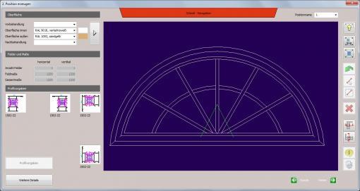 c-mol Fensterbausoftware - Fenster-Türen - Ziersprossen