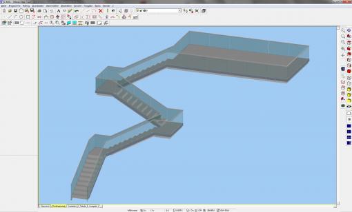 c-mol Railing - Profile und Glas